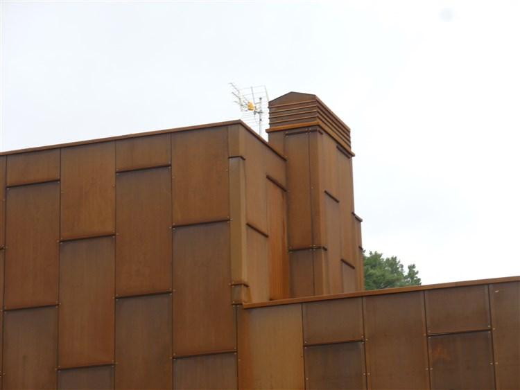Fachada ventilada con acero corten cantabria - Acero corten fachadas ...
